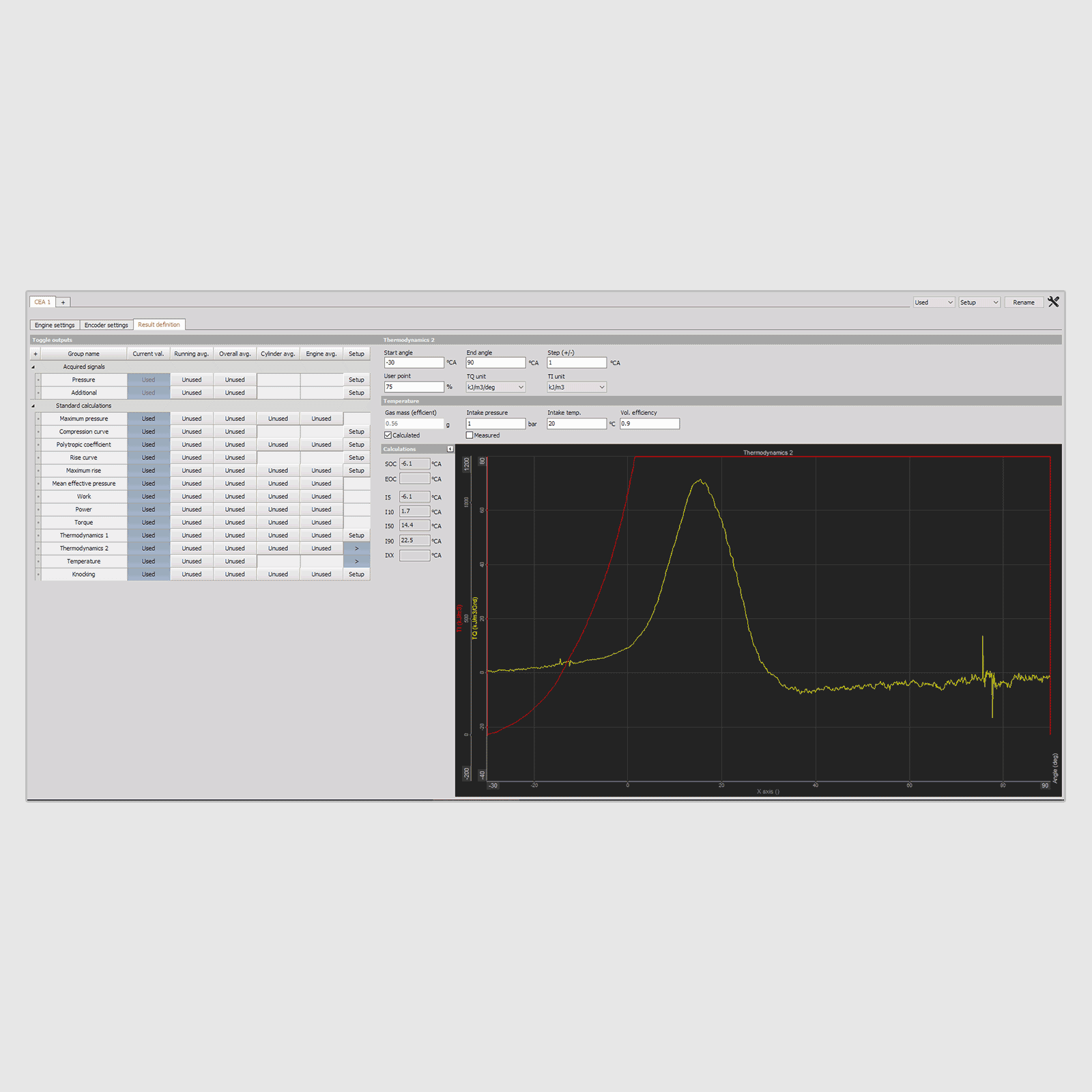Combustion Analysis Features