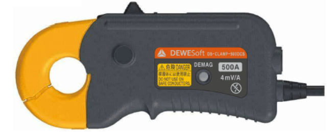Dewesoft DS-CLAMP-500DCS is a fluxgate current clamp sensor