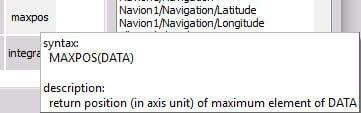 The explanation of the MaxPos function in Math module
