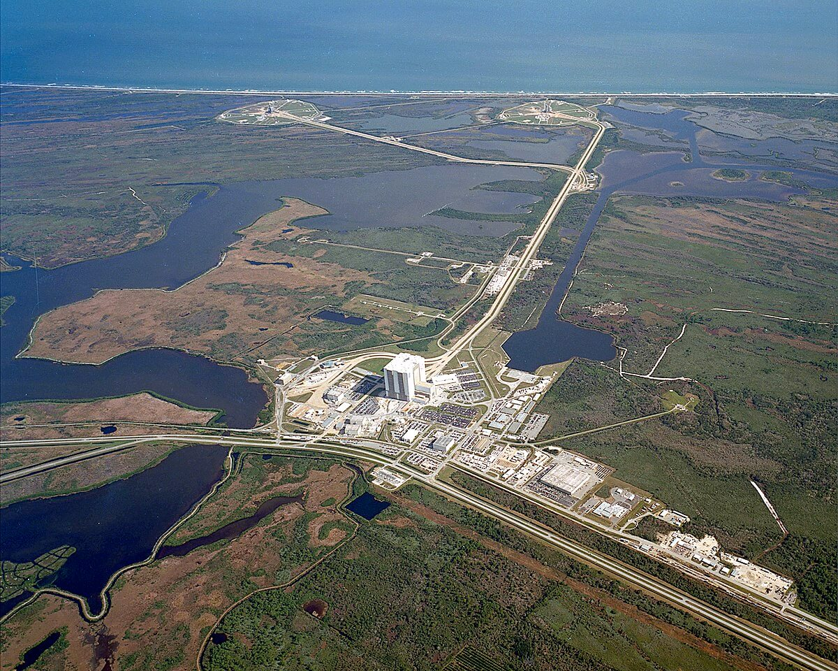 NASA's Kennedy Space Center Launch Complex from above