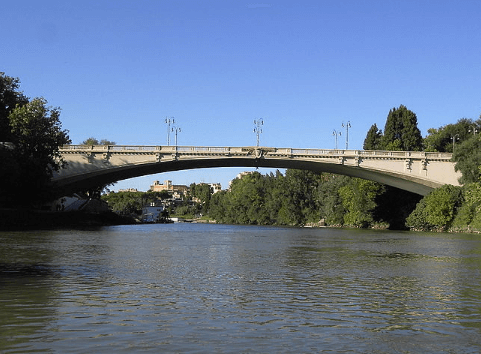 Ponte del Risorgimento on the Tiber river in Rome