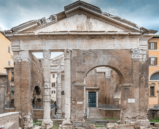 The portico of Octavia in the Ghetto area of Rome