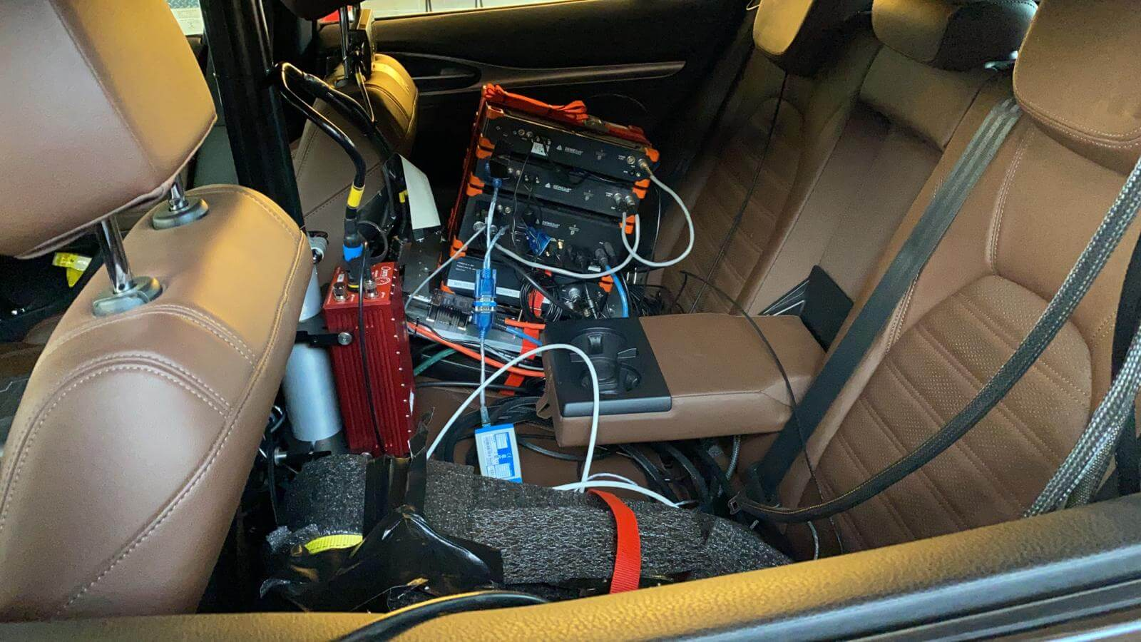 SIRIUS DAQs with SBOX installed in car seats