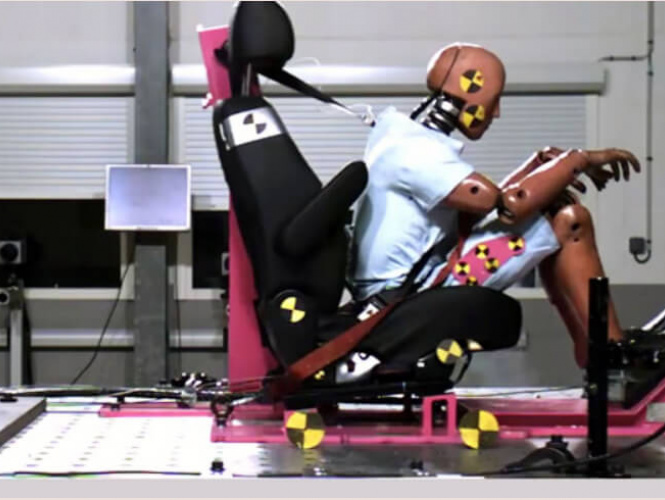 Car Seat Crash Test With a Catapult