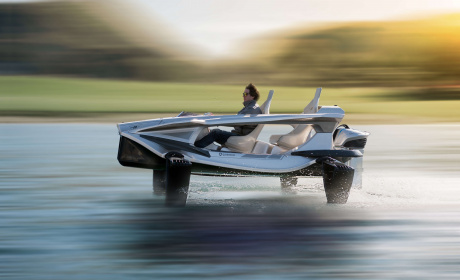 "First all-electric ""water super sports car"" with..."