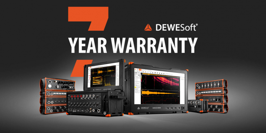 Dewesoft digital data acquisition systems with 7-year warranty