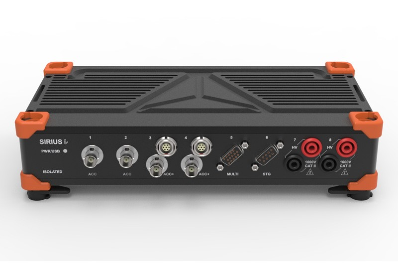 SIRIUS data acquisition system with DualCoreADC amplifiers