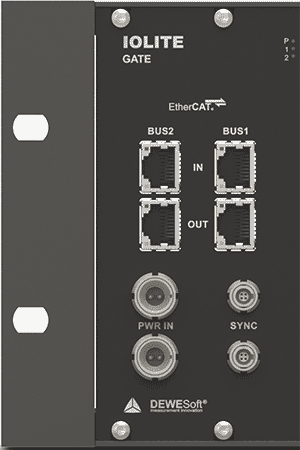 IOLITE has dual EtherCAT busses, plus sync I/O for connecting expansion DAQ devices like SIRIUS and KRYPTON