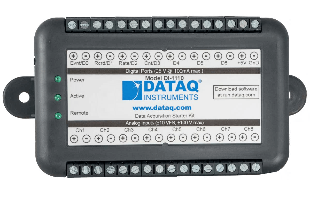 DATAQ data logger model DI-1110