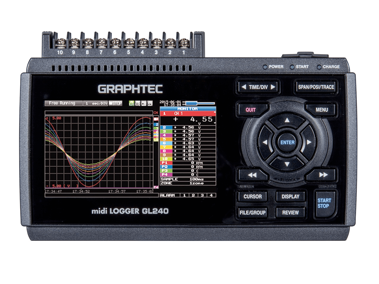 The Graphtec GL240 model data logger
