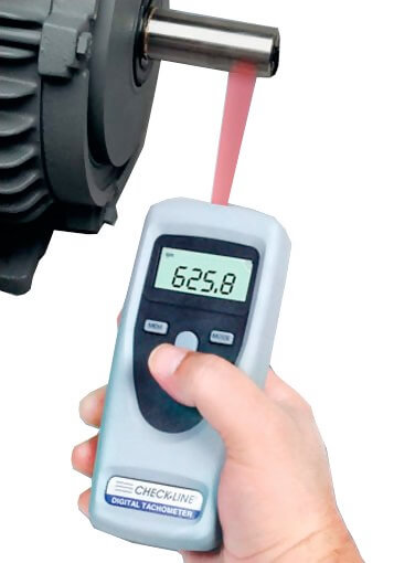 Typical handheld tachometer