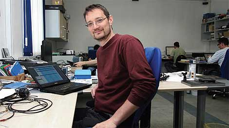 Dr. Jure Knez in the early days of Dewesoft
