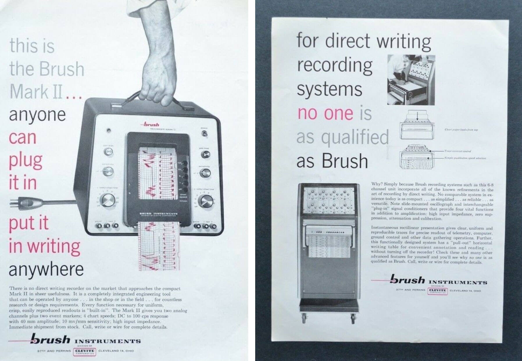 Brush Instruments (later Gould Instruments) advertisements from 1959