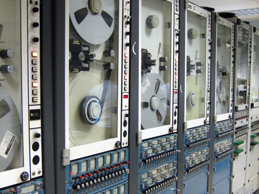 Tape Recorders as installed in NASA telemetry processing stations