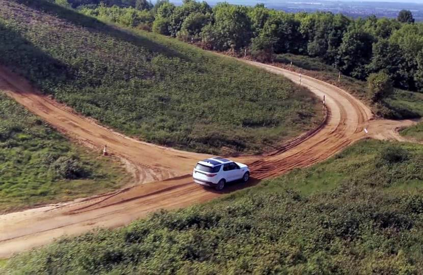 Off-road dirt proving ground track