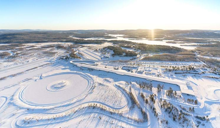 Winter ice and snow track proving ground