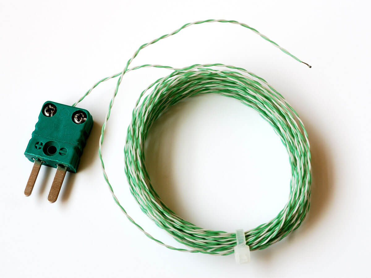 Typical thermocouple sensor