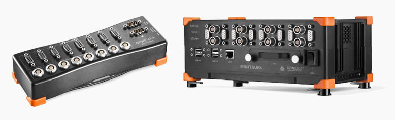 DEWE-43A and MINITAURs data acquisition systems from Dewesoft