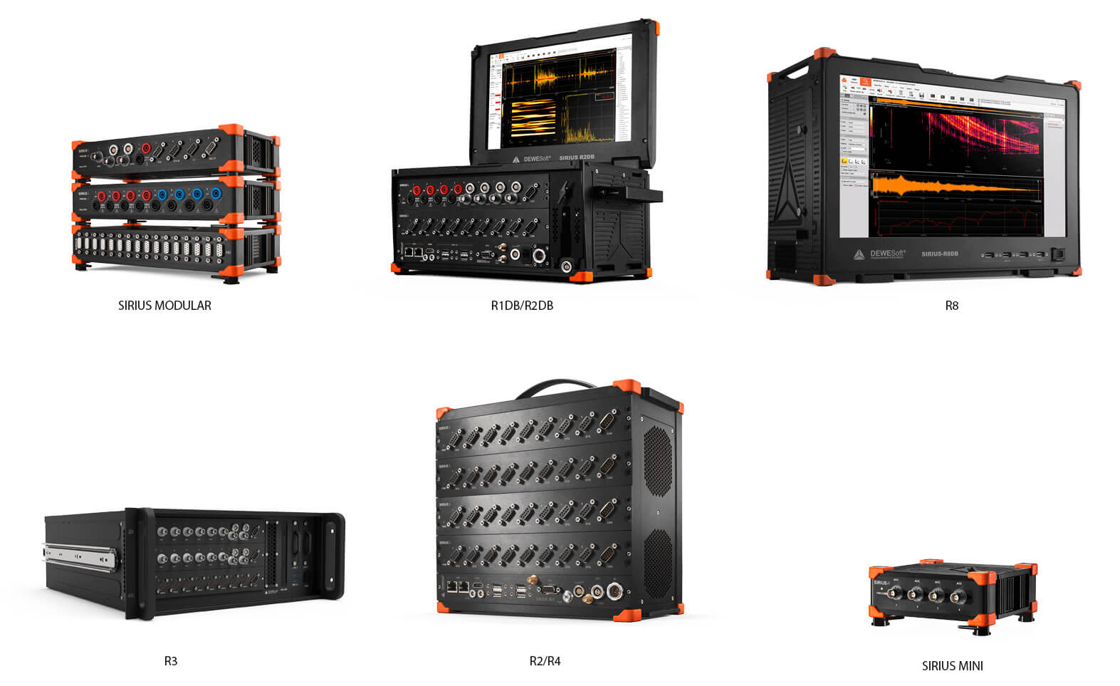 SIRIUS family data acquisition systems in different forms
