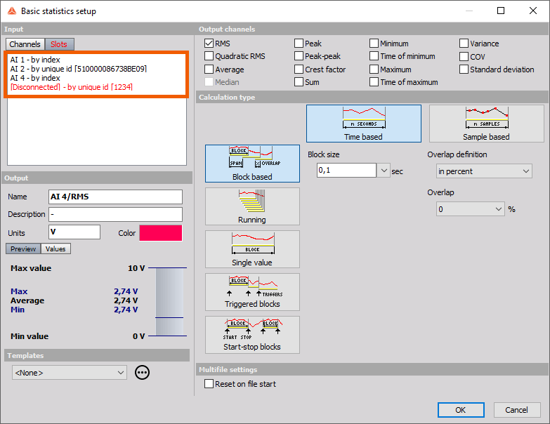 Dewesoft X Channel Connections