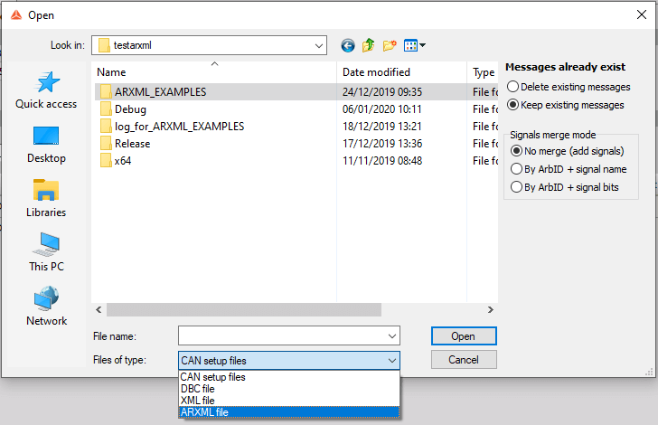 Dewesoft X - ARXML File Support