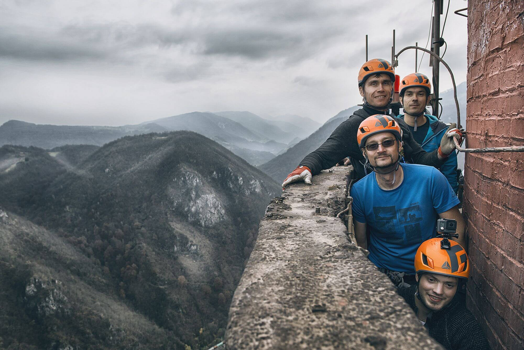 Dewesoft Climb to the tallest chimney in EU