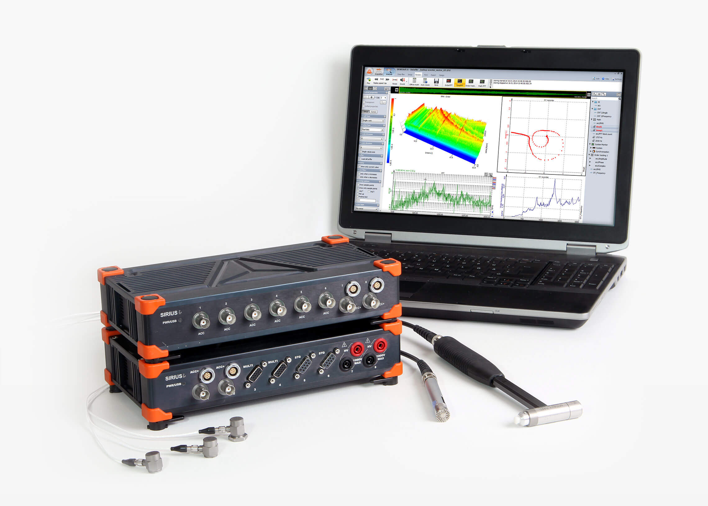 Dewesoft modal impact hammer with data acquisition system