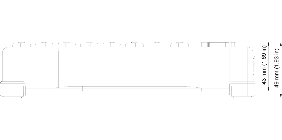 DEWE-43A technical drawing