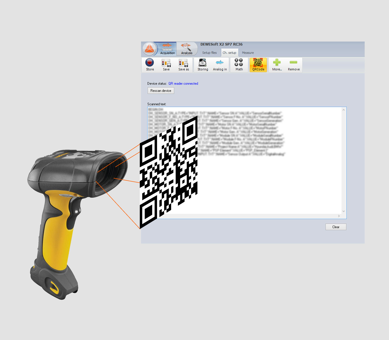 Scanners QR code