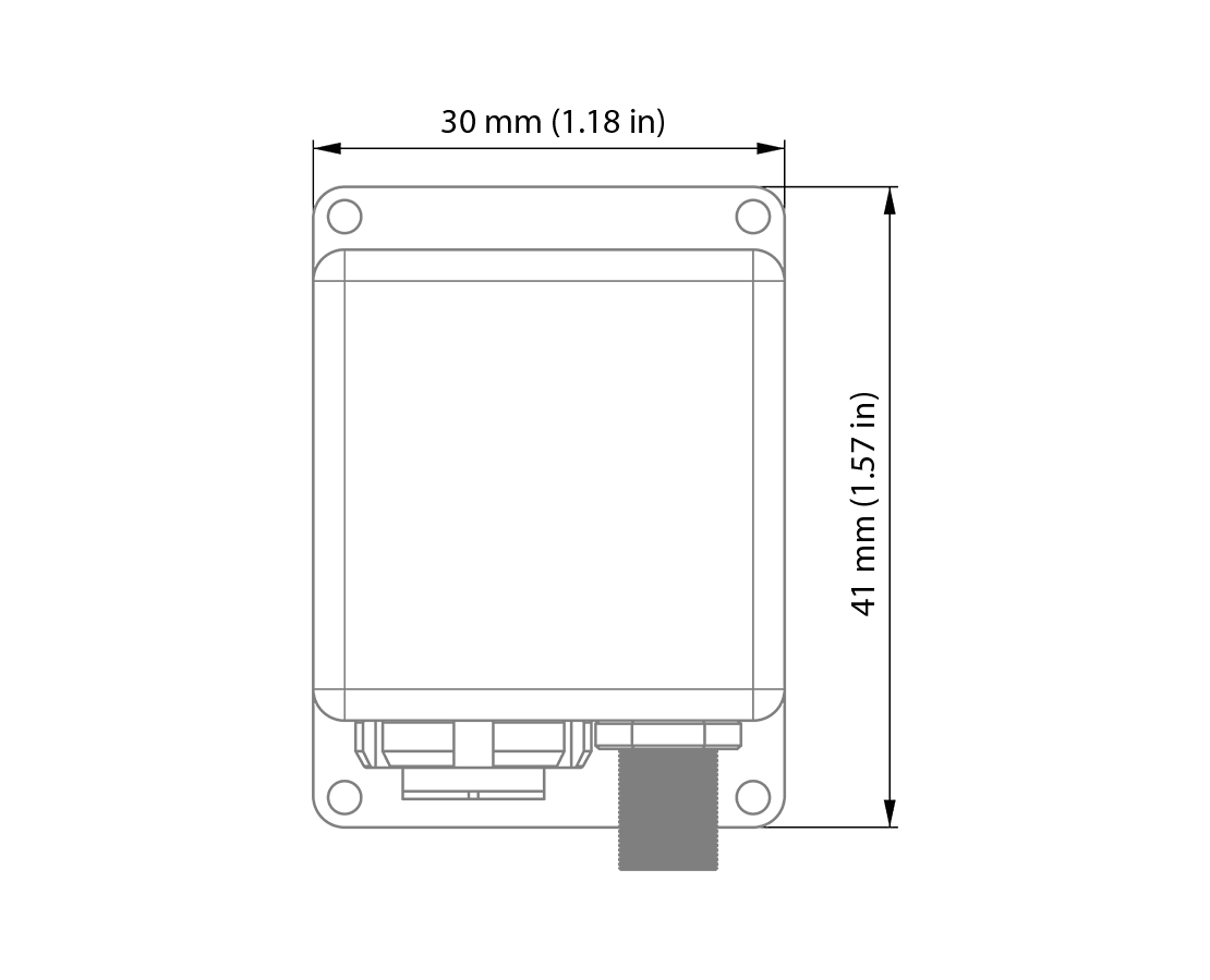 GPS and IMU Devices  technical drawing