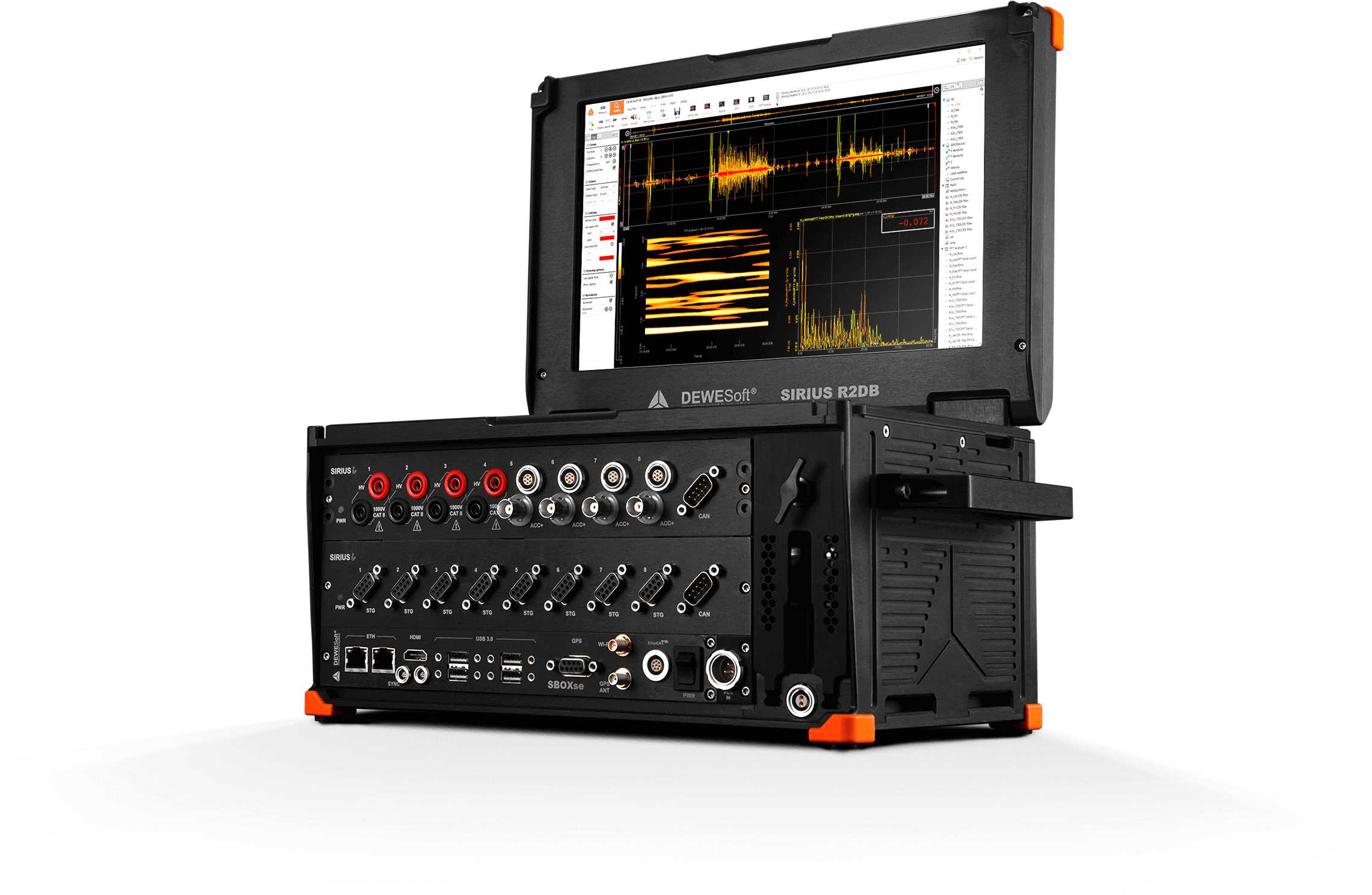 Mobiles All-in-one DAQ System | R1DB/R2DB | Dewesoft