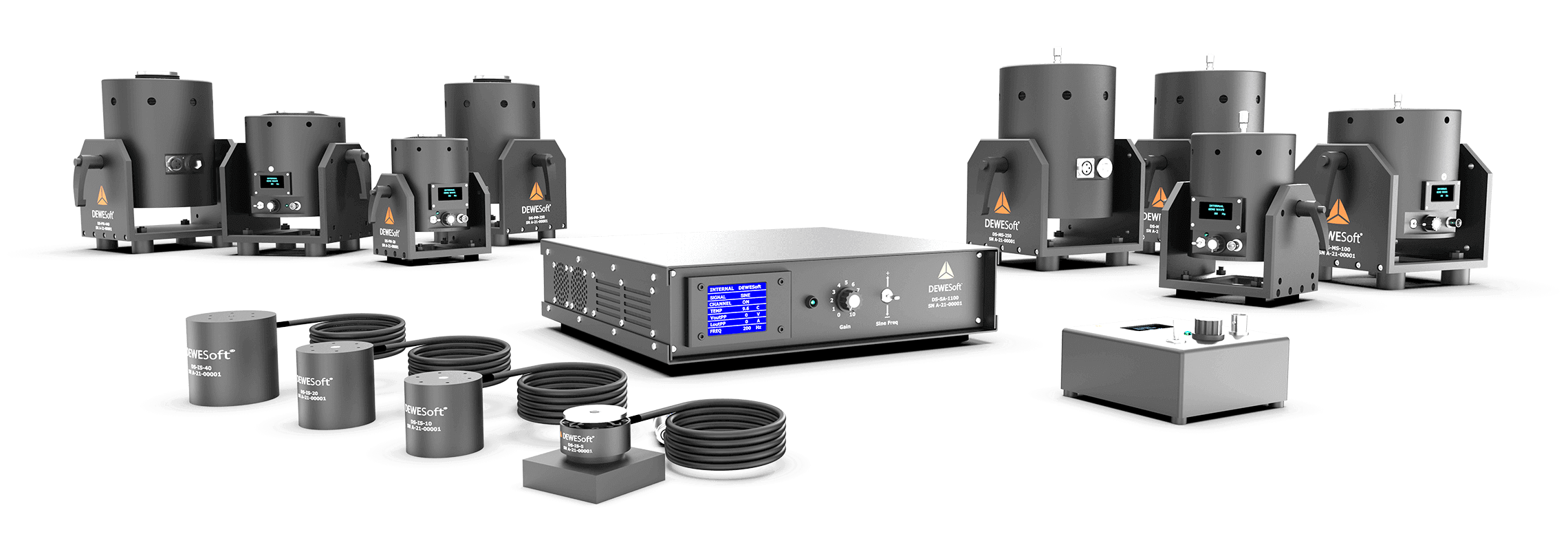 Dewesoft Modal and Inertial Vibration shakers