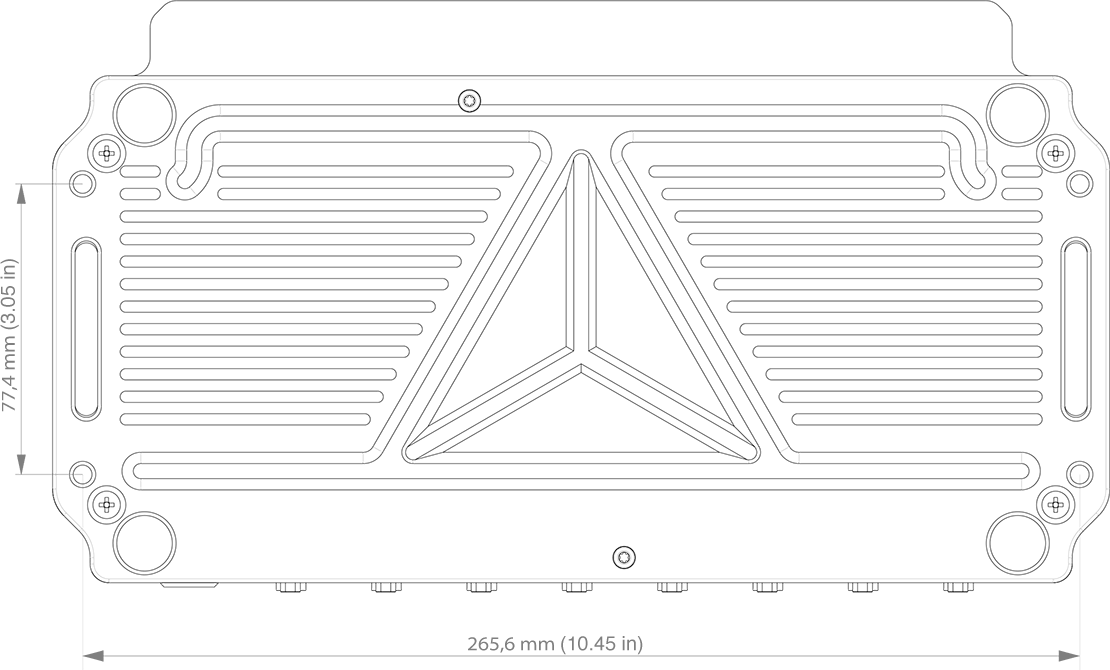SIRIUS waterproof technical drawing